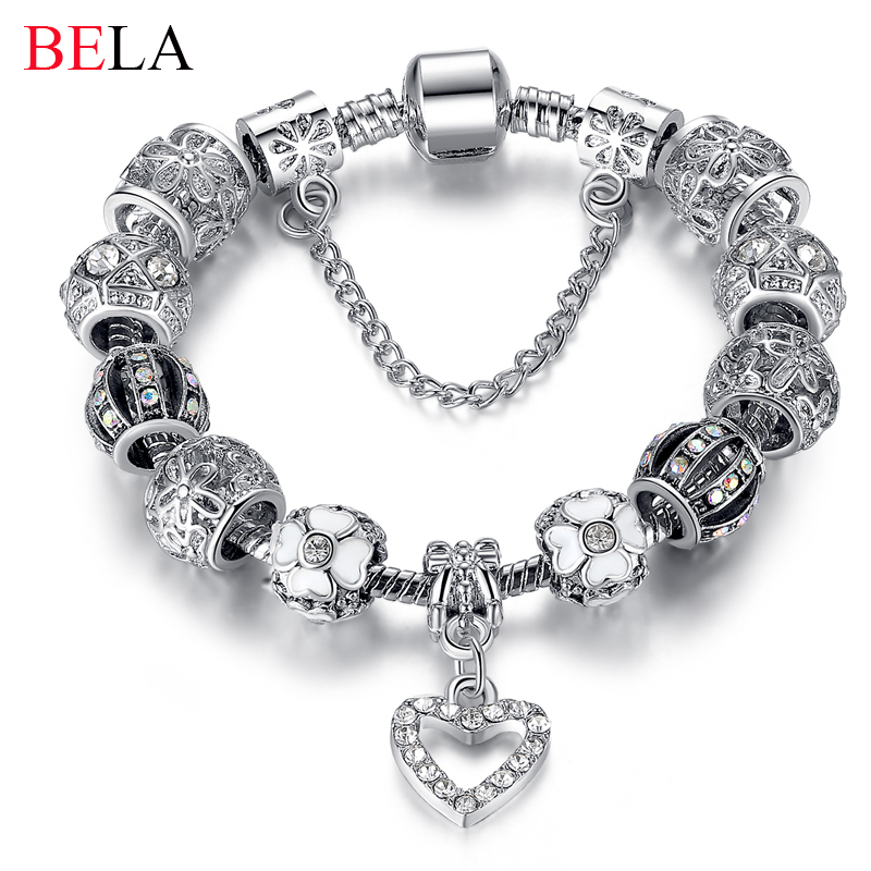 d390ed955 2015 High Quality Charms Beads fit pandora bracelet 925 Silver Crystal  Beads Fashion Bracelets Bangles for ...