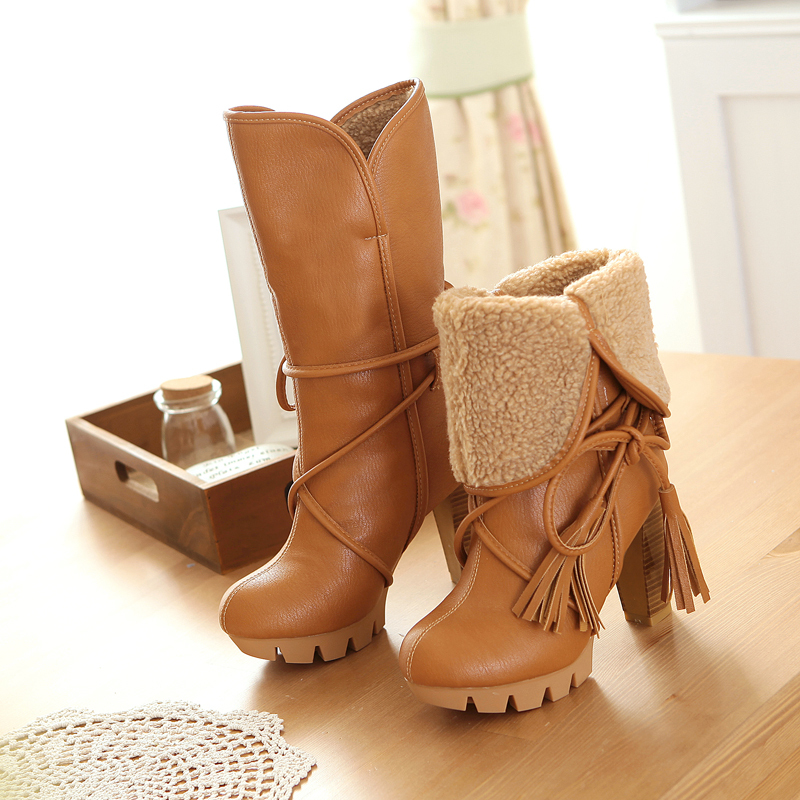 2014 New Fashion Women Warm Snow Boots winter women riding ...