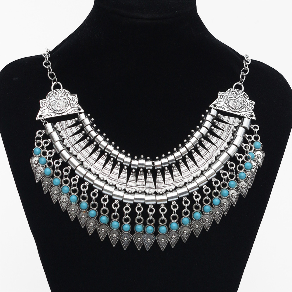a5676bc5985b Latest New Product Alloy Coin Necklace. 2016 Fashion wholesale necklace  fine Jewellery Tassel Vintage bohemian Ethnic Choker silver power maxi  Statement ...