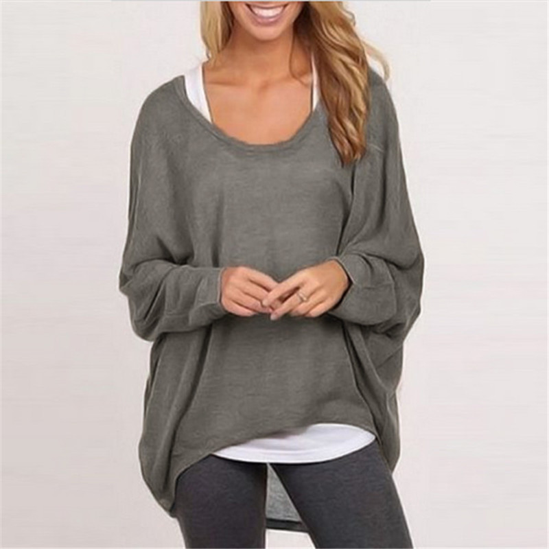 Stylish Womens Fall Autumn Knit Pullover Ladies Sweater Loose Tops T-shirts Tee