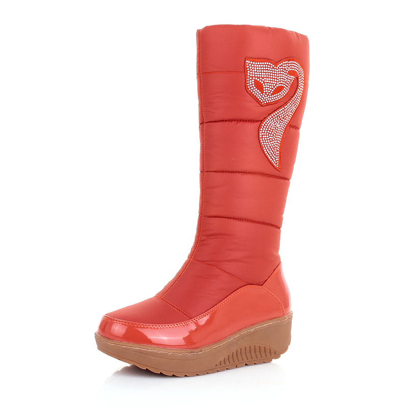 aisimi new winter russia keep warm snow boots cotton shoes