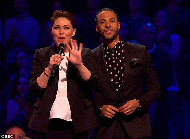 Emma Willis means business in a trouser suit as she shows off her baby bump on The Voice UK