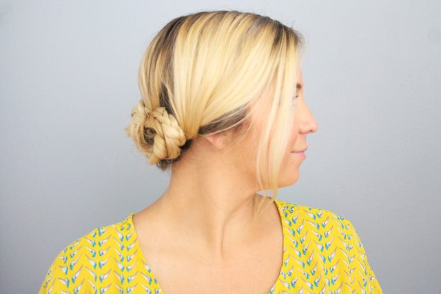 In A Hurry?! Here's a 5-Minute Braided Updo