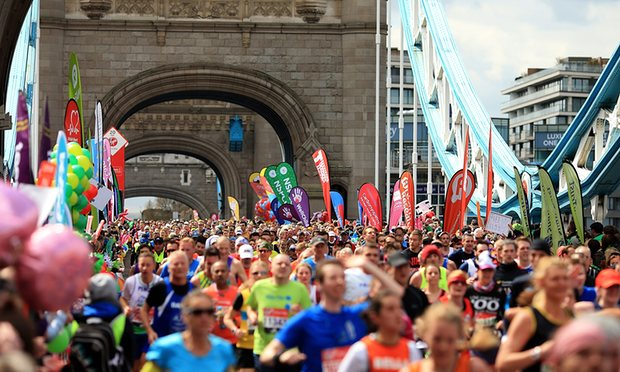 Thousands Take Part In London Marathon After Countdown From Space