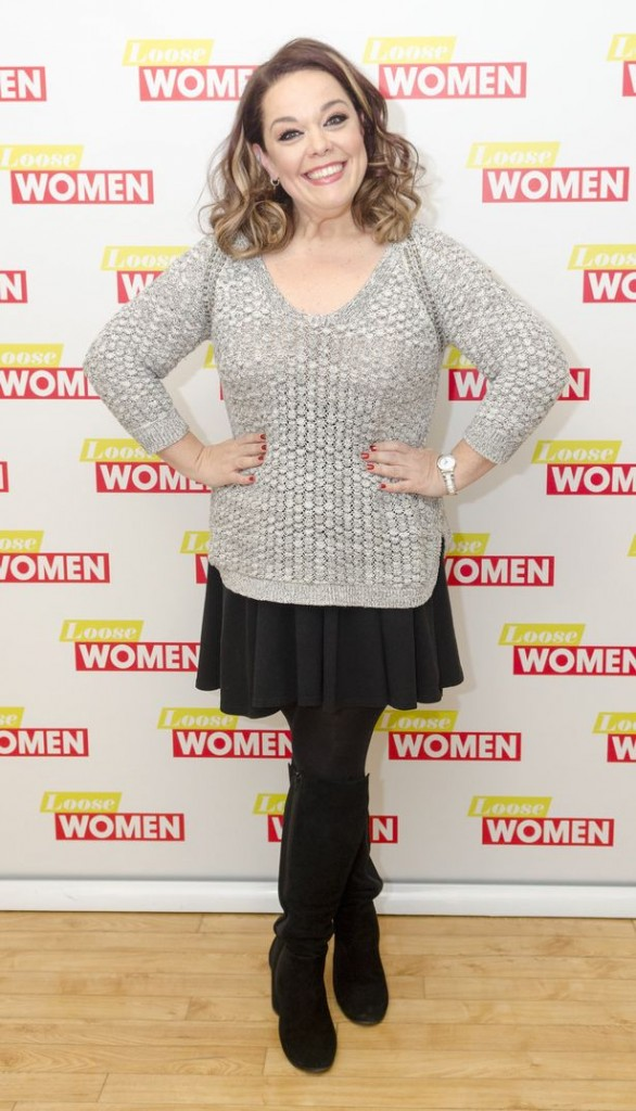 Lisa Riley showed off her slim figure