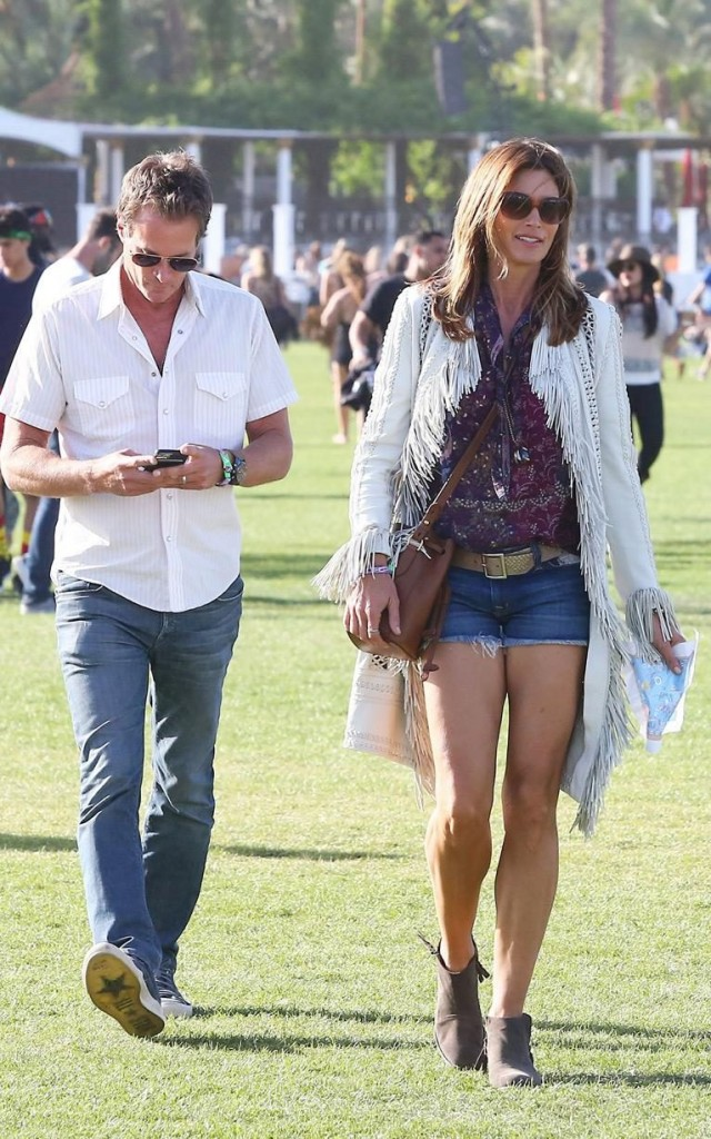 Cindy Crawford and husband Rande Gerber CREDIT: REX