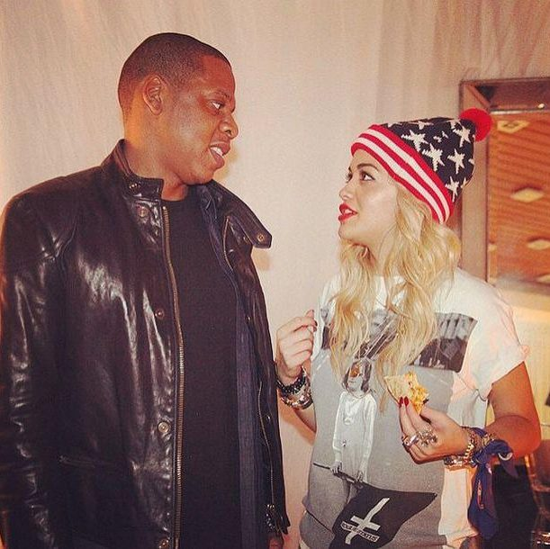 Rita Ora and Jay Z CREDIT: INSTAGRAM: RITA ORA