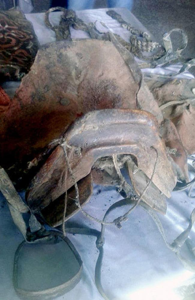 The corpse was preserved in a grave three metres deep. Picture: Khovd MuseumSource:Supplied