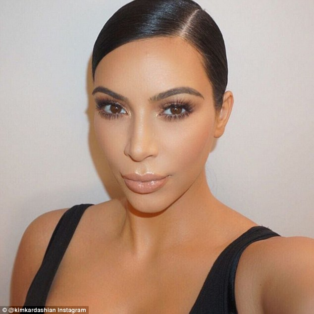 Selfie ready: Contouring has become extremely popular in recent years, thanks in part to celebrities like Kim Kardashian (above)