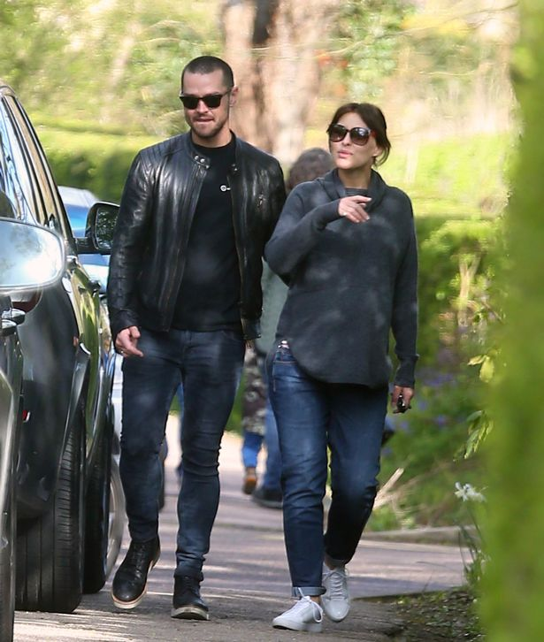 Emma and Matt seen days before they welcomed their baby into the world