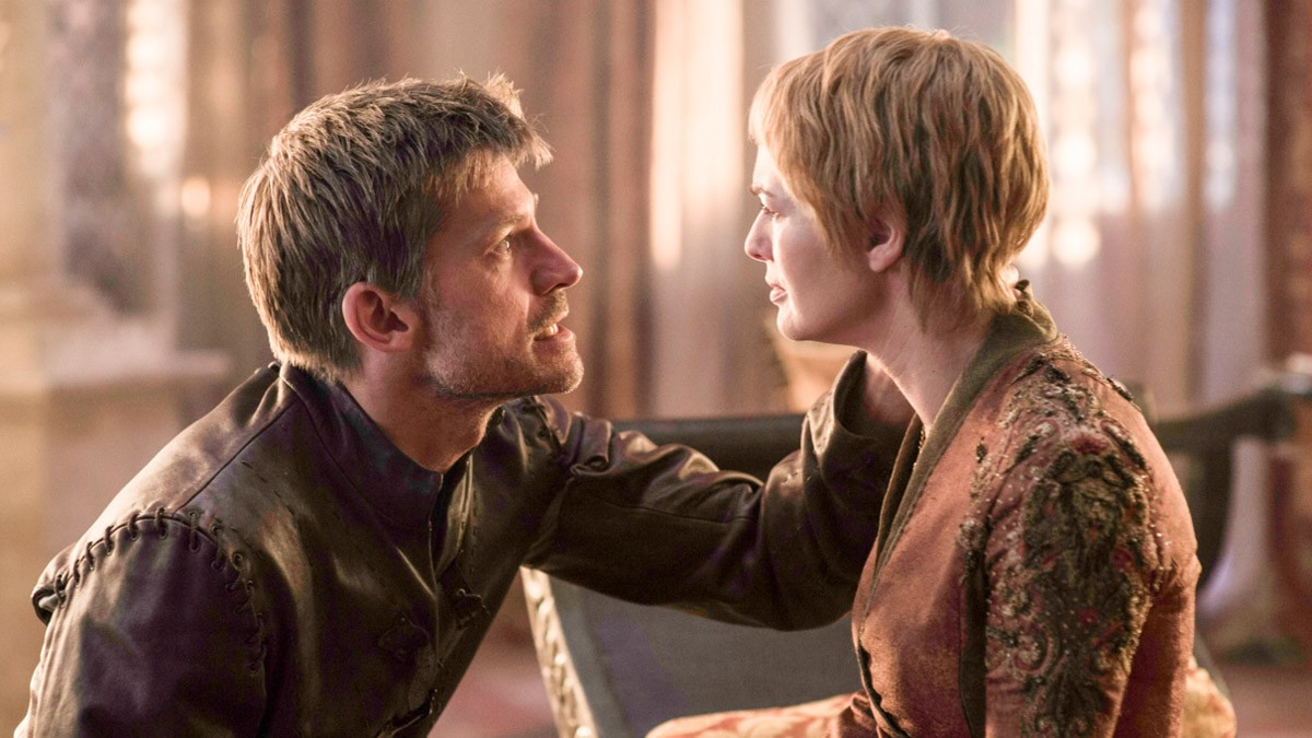 Jaime and Cersei Lannister (Nikolaj Coster-Waldau and Lena Headey) are reunited. Their daughter Myrcella is dead and Cersei has been shamed in front of the whole of King's Landing Credits: HBO