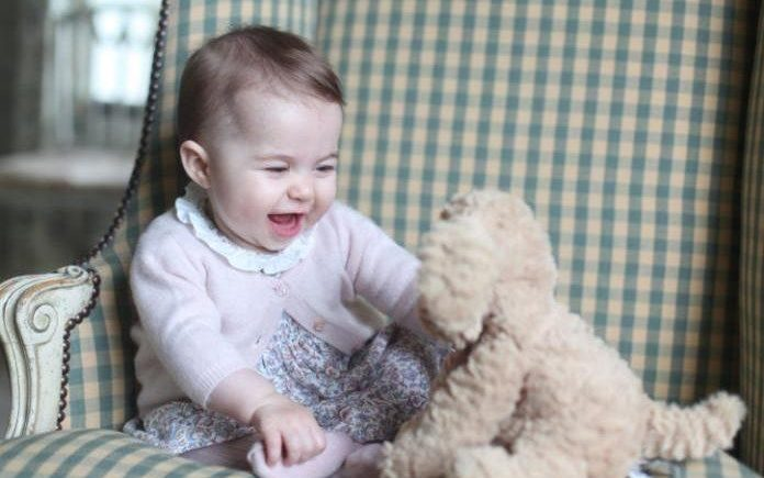 Princess Charlotte photographed by her mother The Duchess of Cambridge CREDIT: THE DUCHESS OF CAMBRIDGE