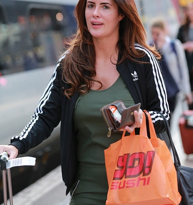 Former Big Brother Star Helen Wood Cuts A Sombre Figure As She Travels To London Ahead Of TV Appearance